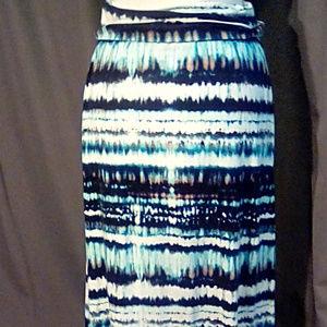 Cynthia Rowley Size L maxi skirt, shades of blue